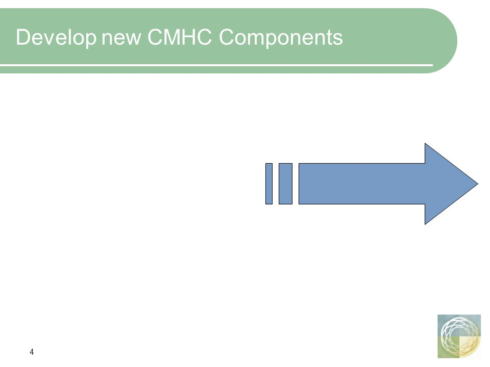 4 Develop new CMHC Components