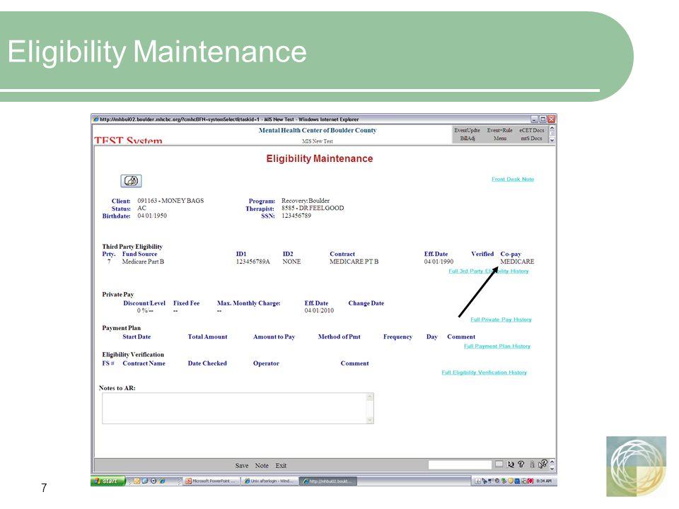 7 Eligibility Maintenance