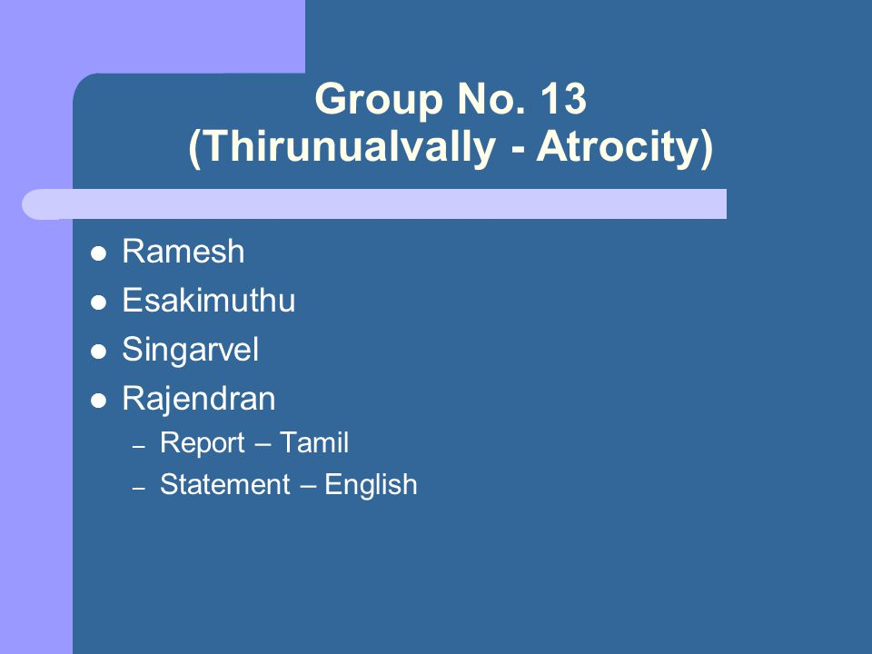 Group No.