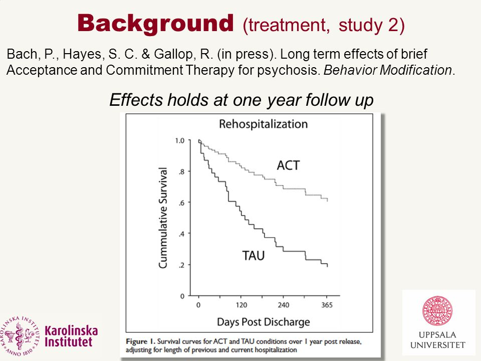 Treatment  Hypothesis for improvements, largely through: a)More stable sense of self.