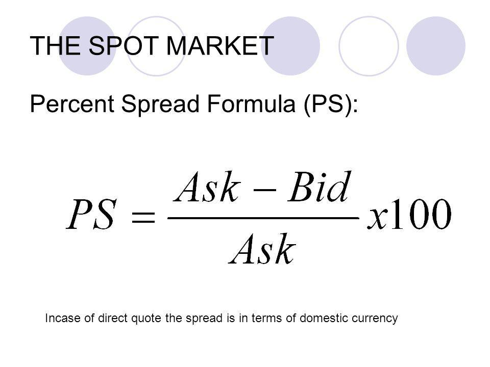 Spot Transaction and Forward Transaction The spot market transaction does not imply immediate exchange of currency, rather the settlement (exchange of currency) takes place on a value date, which is usually two business days after the trade date.