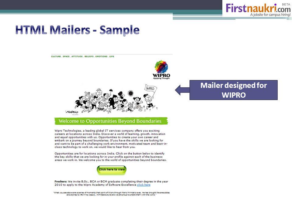 Mailer designed for WIPRO