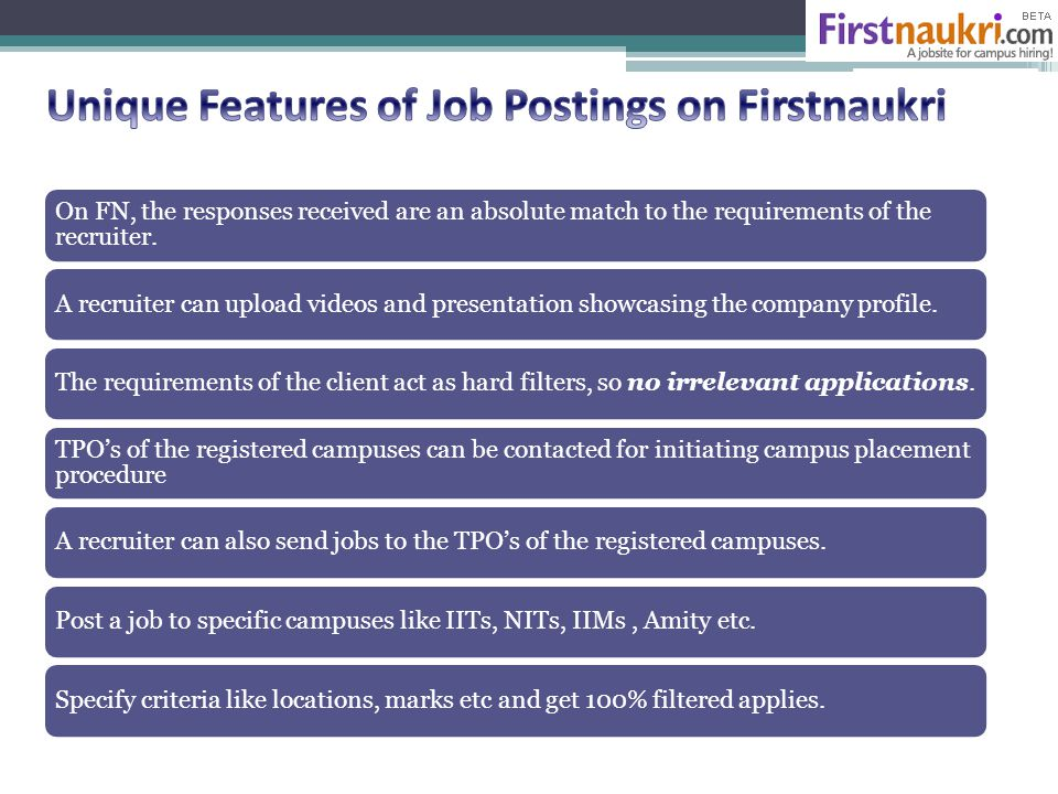 On FN, the responses received are an absolute match to the requirements of the recruiter.