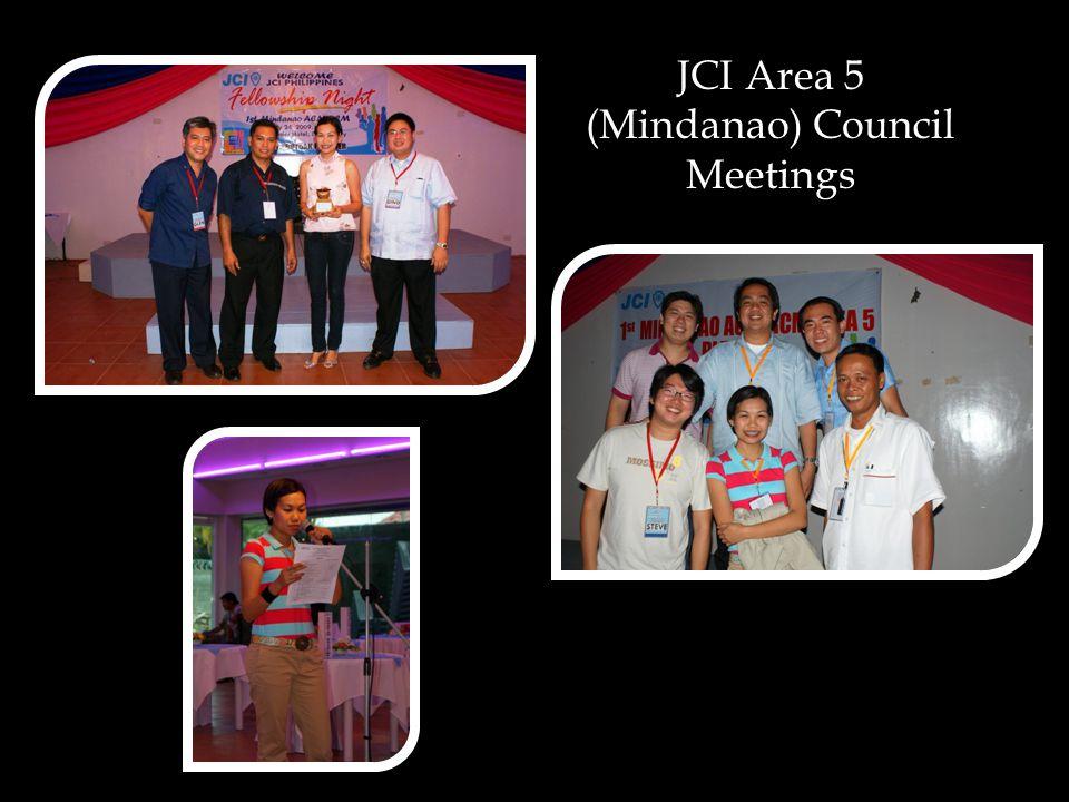 JCI Area 5 (Mindanao) Council Meetings