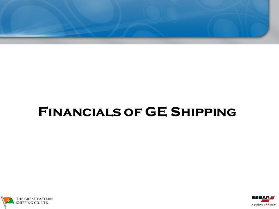 Financial Highlights Financials of GE Shipping