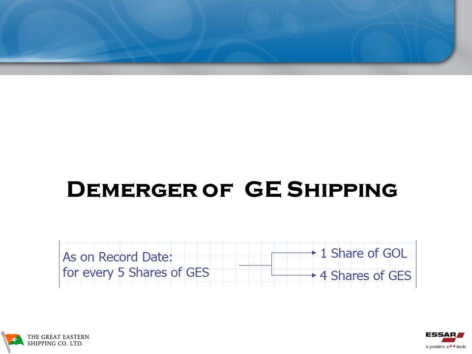 GE Shipping De-merger  Demerger of GE Shipping