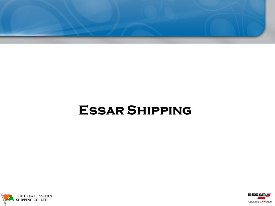 GE Shipping De-merger  Essar Shipping