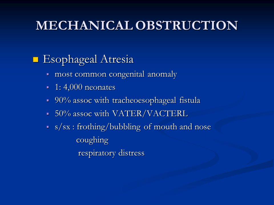 Causes Causes congenital jejuno-ileal atresias congenital jejuno-ileal atresias meconium ileus meconium ileus Hirschsprung disease Hirschsprung disease
