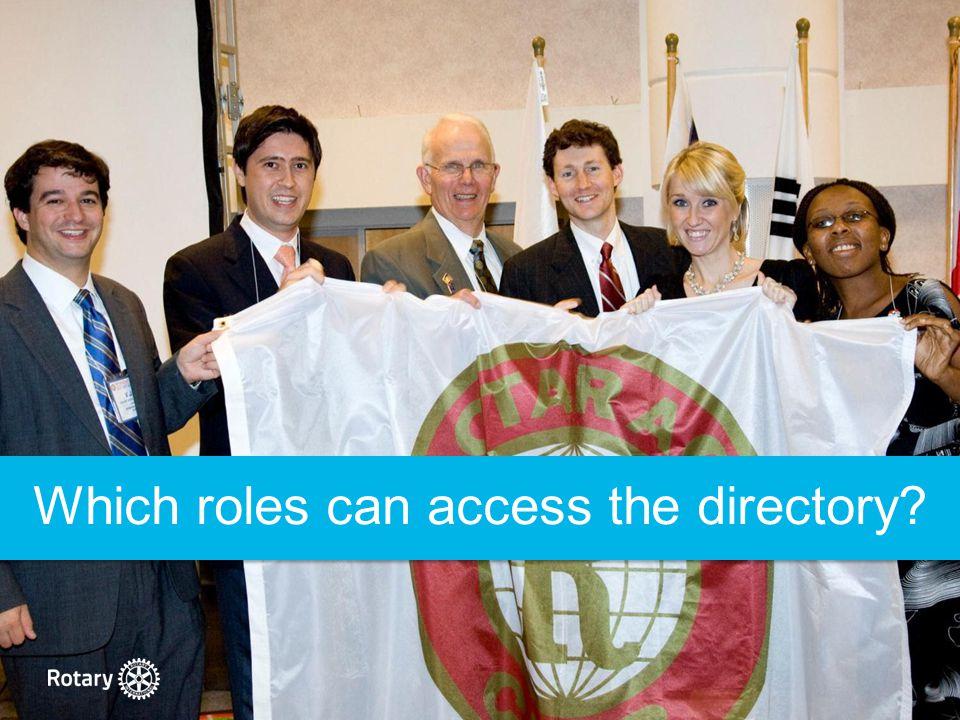 District Rotaract Chairs Rotaract Club Presidents Rotarian Advisers District Rotaract Representatives Rotaract Multidistrict Contacts
