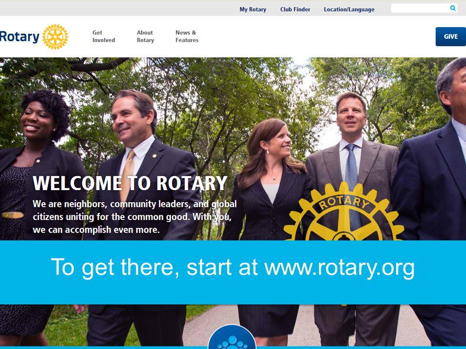 Click on My Rotary