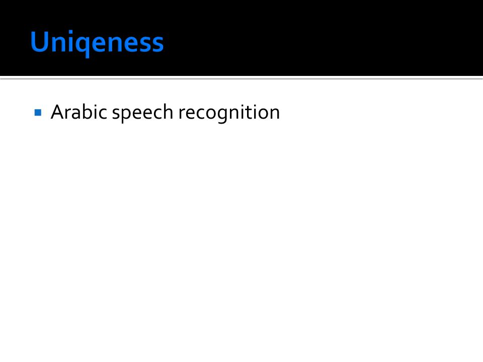  Arabic speech recognition