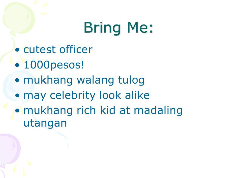 Bring Me: cutest officer 1000pesos.