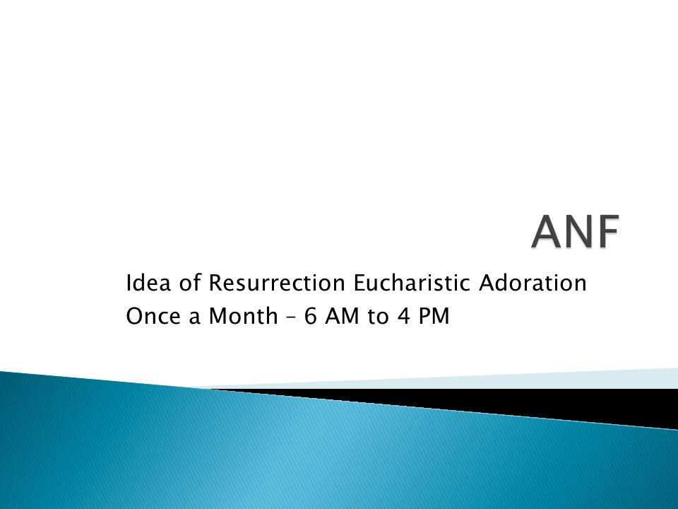 Idea of Resurrection Eucharistic Adoration Once a Month – 6 AM to 4 PM