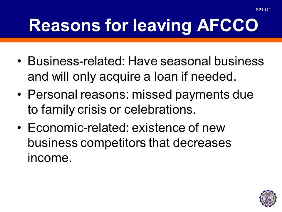 SP1-O15 Reasons of AFCCo
