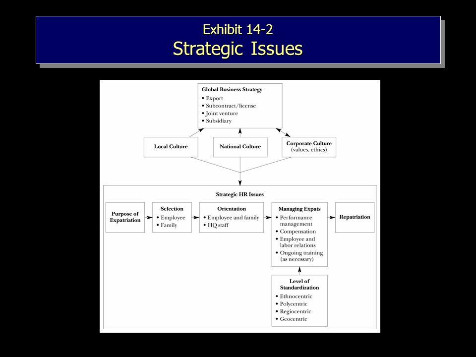 Exhibit 14-2 Strategic Issues