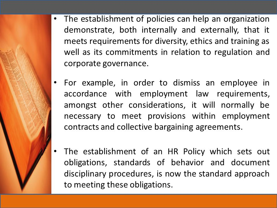 Work – Life Balance Work life Balance policy defines how the organization intends to allow employees greater flexibility in their working patterns so that they can balance what they do at work with the responsibilities and interests they have outside work.