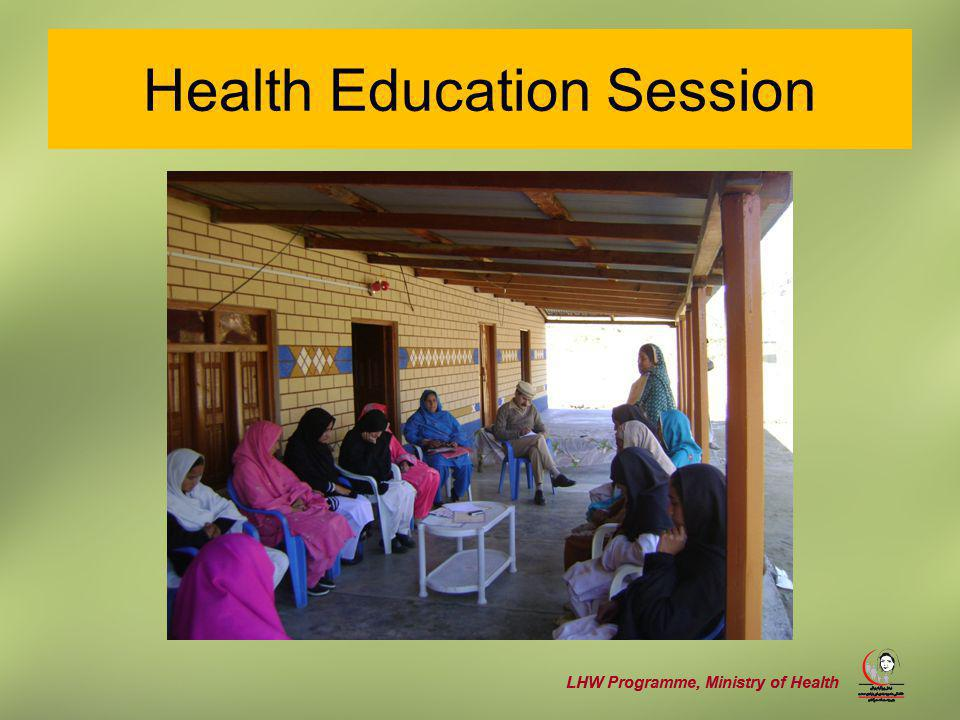LHW Programme, Ministry of Health Health Education Session