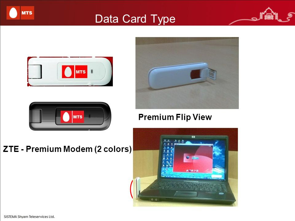 Data Card Type ZTE - Premium Modem (2 colors) Premium Flip View