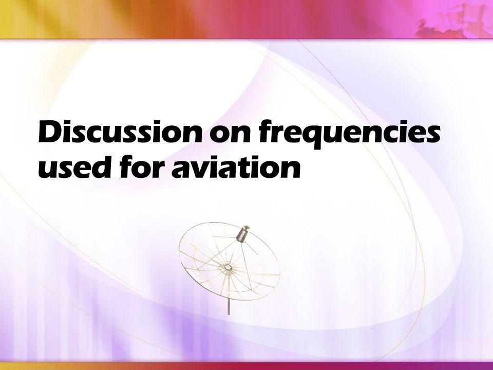 Frequency Band BandFrequency LF3 0– 300kHz MF300kHz– 3MHz HF3 – 30MHz VHF30 – 300MHz UHF300MHz– 3GHz SE
