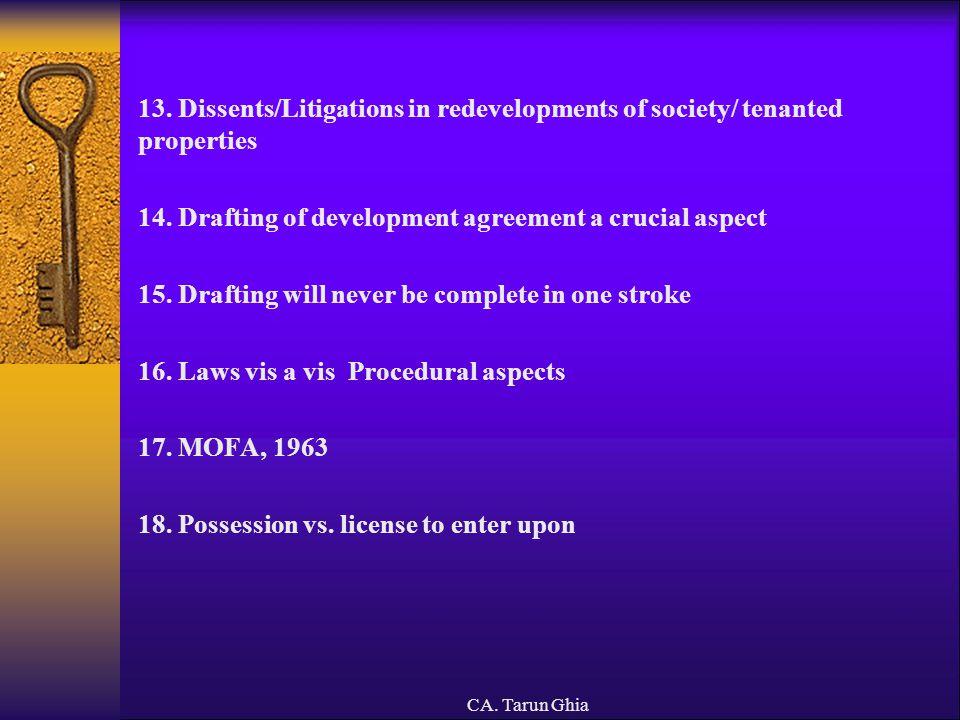 CA.Tarun Ghia III. JOINT DEVELOPMENTS – JOINT VENTURES 1.