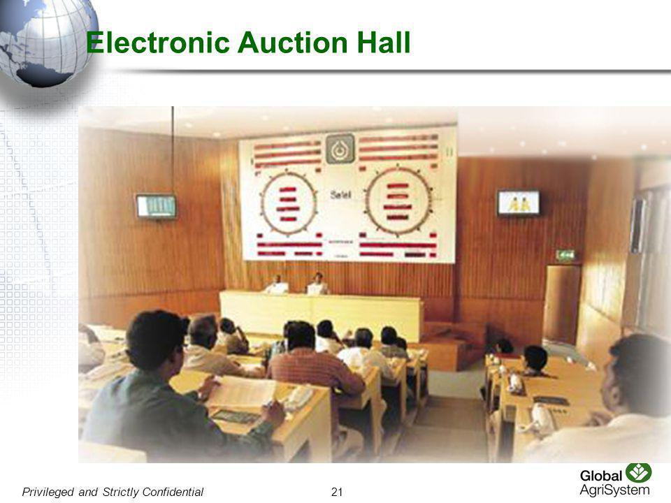 21 Privileged and Strictly Confidential Electronic Auction Hall