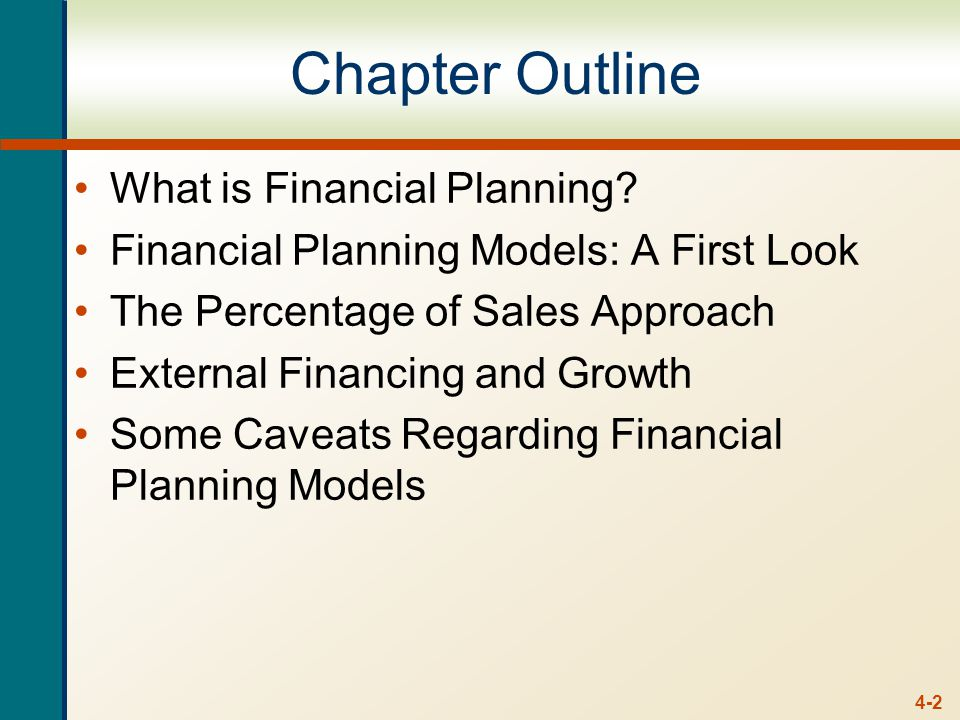 4-2 Chapter Outline What is Financial Planning.