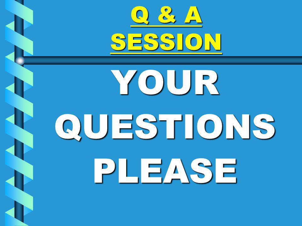 Q & A SESSION YOURQUESTIONSPLEASE