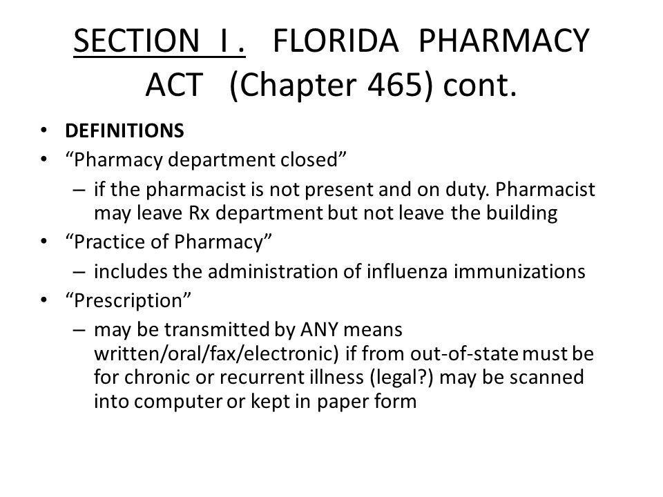 PRACTICE OF PHARMACY Only a pharmacist or registered pharmacy intern under the supervision of a pharmacist may: 1.