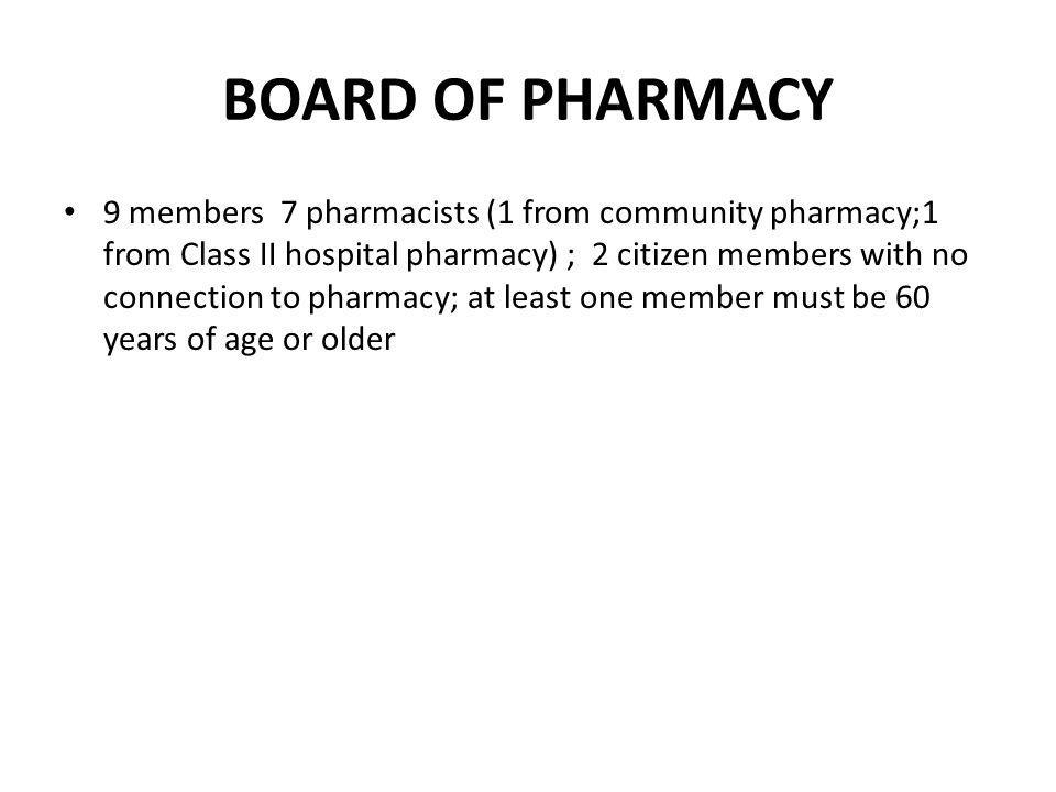 PRACTICE OF PHARMACY (cont.) A pharmacist must: 1.