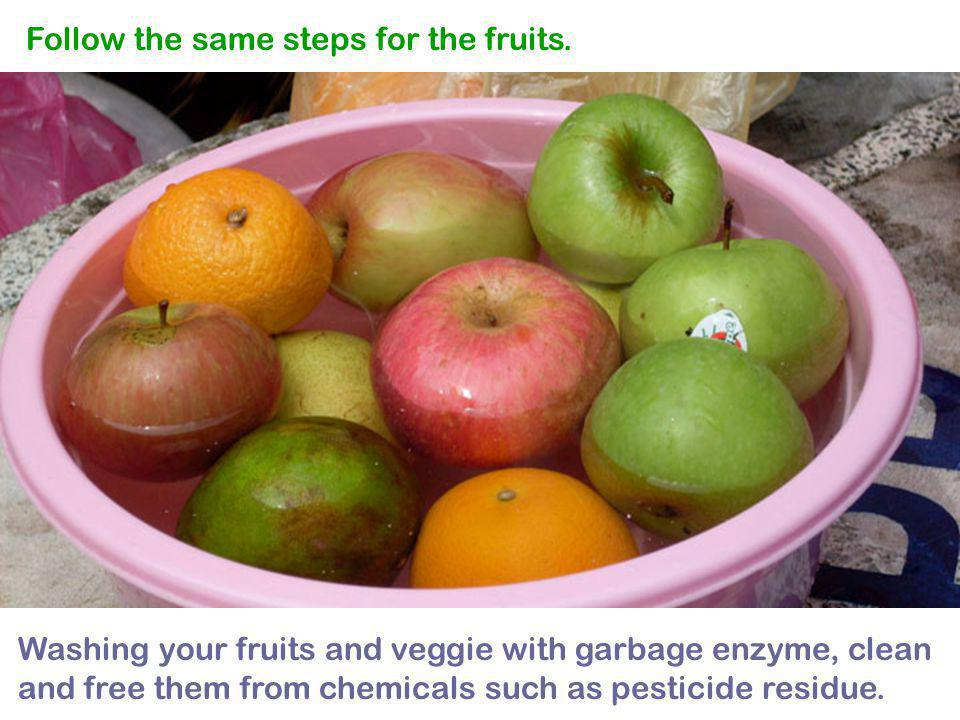 Follow the same steps for the fruits.
