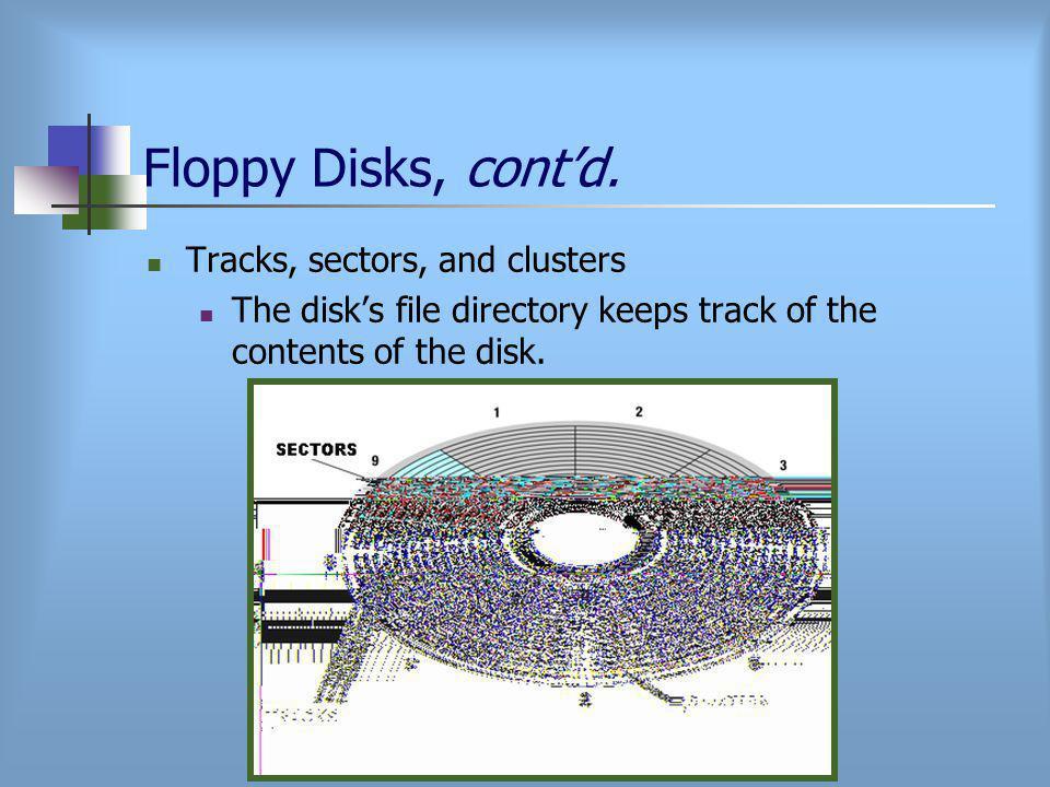 Floppy Disks, cont'd.