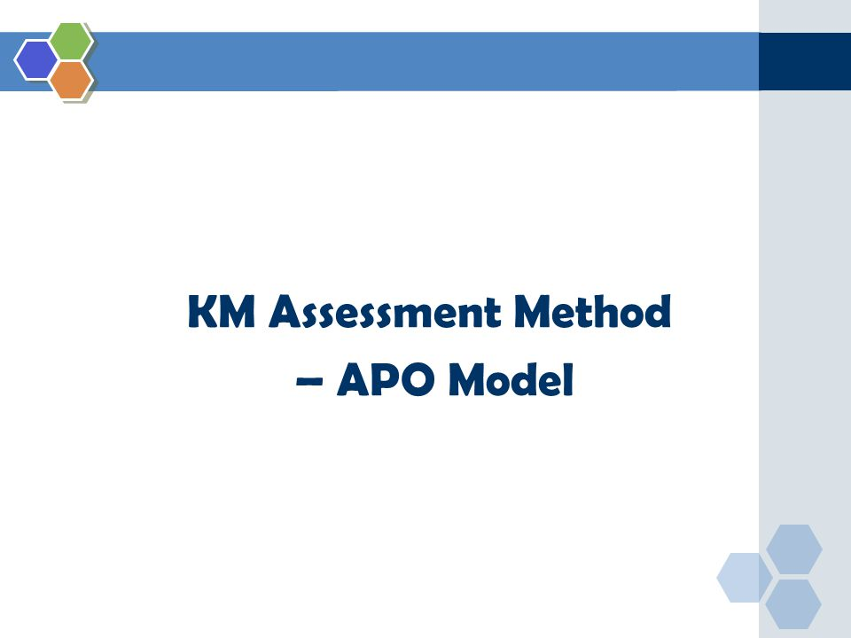 KM Assessment Method – APO Model