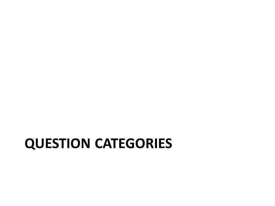 QUESTION CATEGORIES