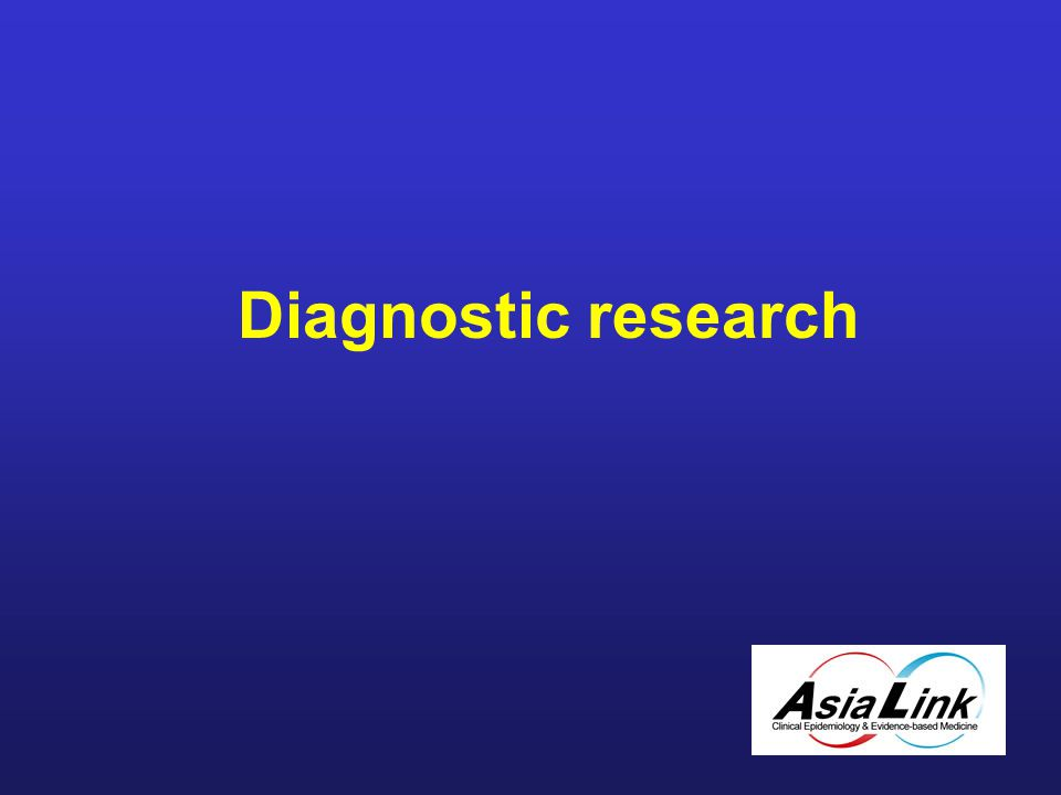 Diagnostic research