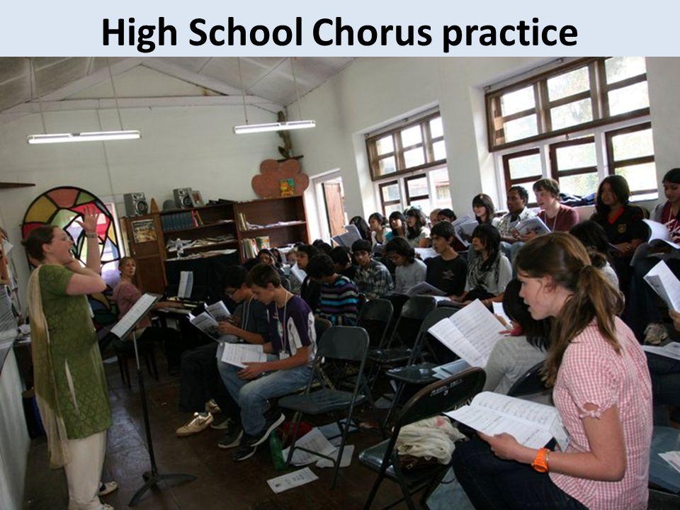 High School Chorus practice