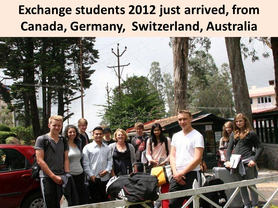 Exchange students 2012 just arrived, from Canada, Germany, Switzerland, Australia