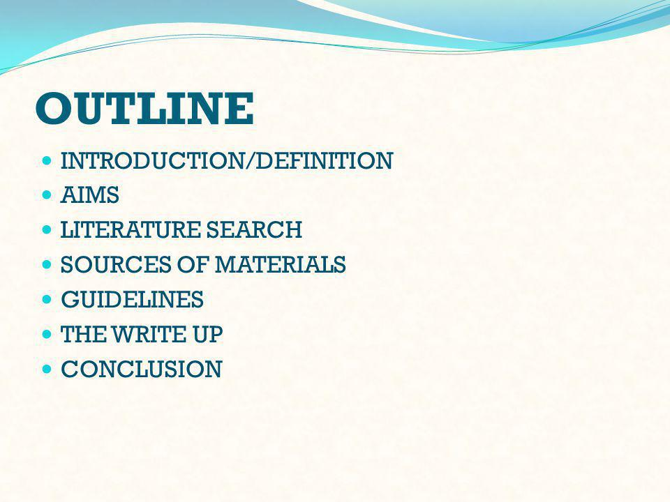 GUIDELINES - 2 2 Step 2: Identify the literature that you will review Familiarize your self with data bases.
