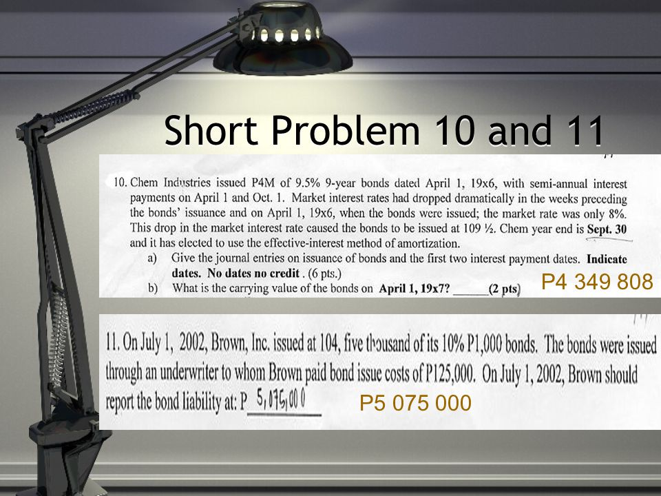 Short Problem 10 and 11 P4 349 808 P5 075 000