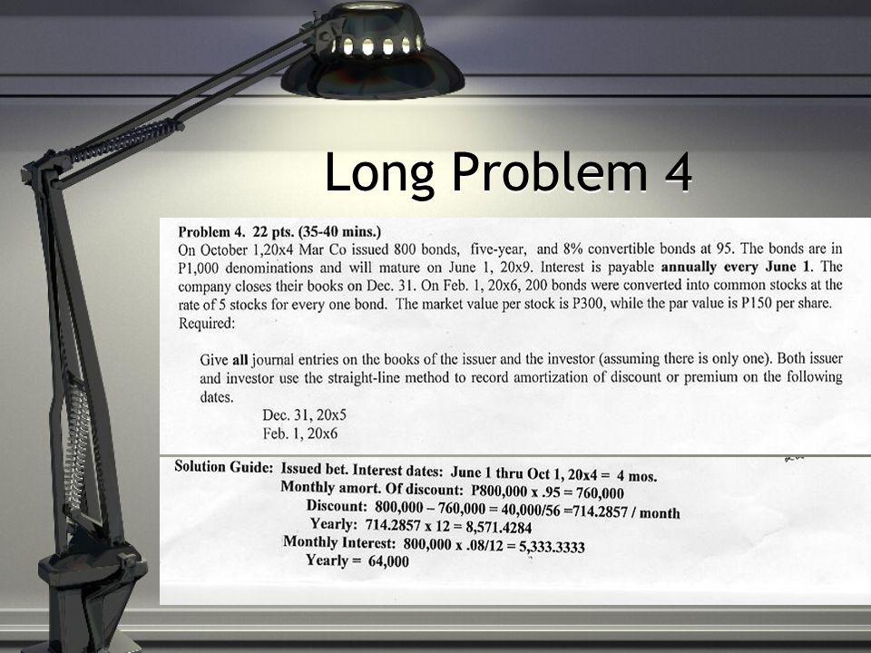 Long Problem 4