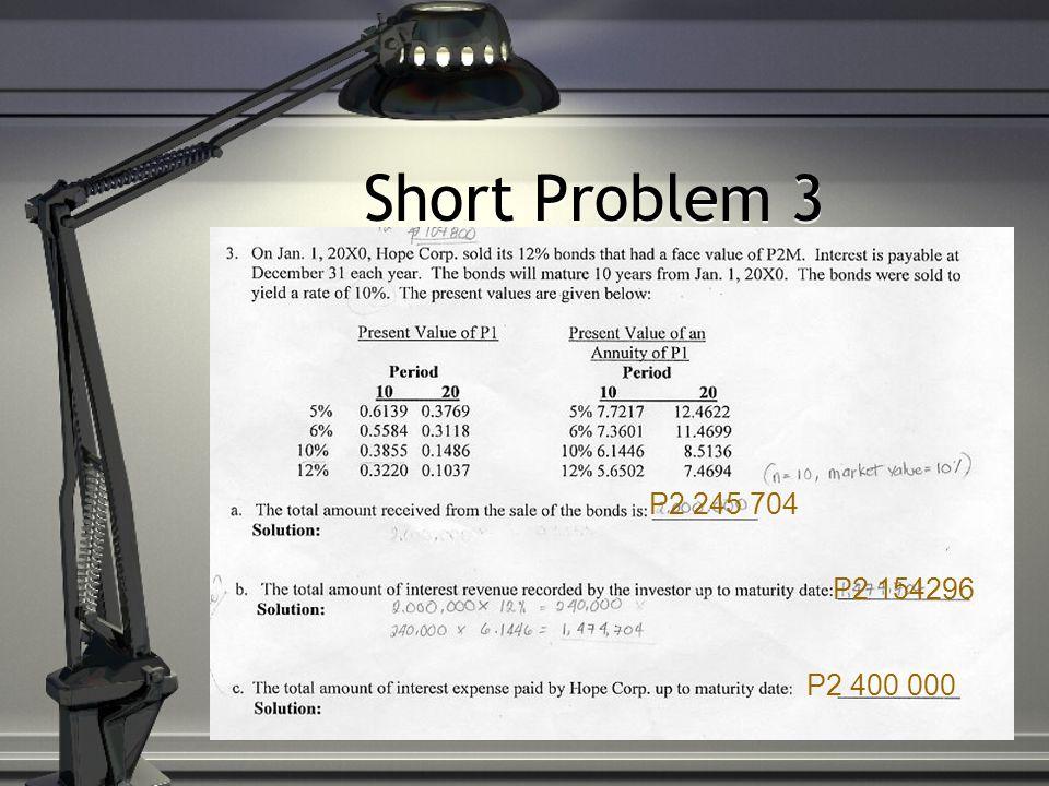 Short Problem 3 P2 245 704 P2 154296 P2 400 000