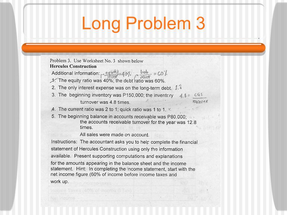 Long Problem 3