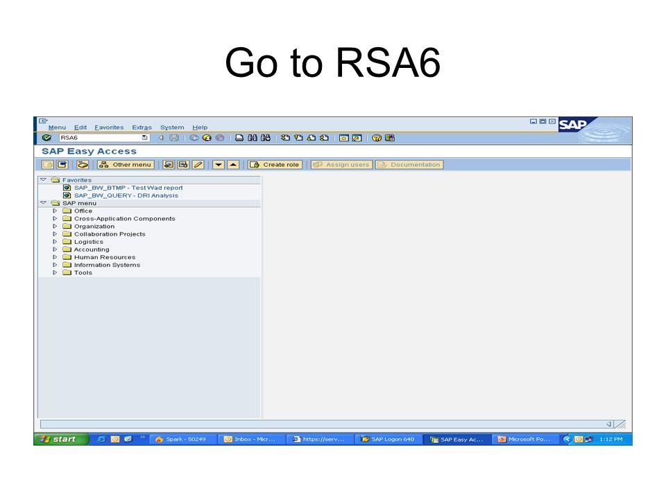 Go to RSA6