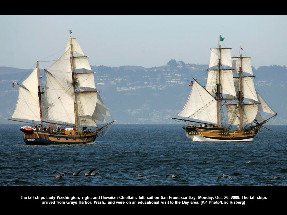Spectators up the mast on the Tasmanian tall ship James Craig watch the fleet sail out of Sydney Harbour after the start of the 2008 Rolex Sydney to Hobart Yacht race in Sydney, Australia, Friday, Dec.