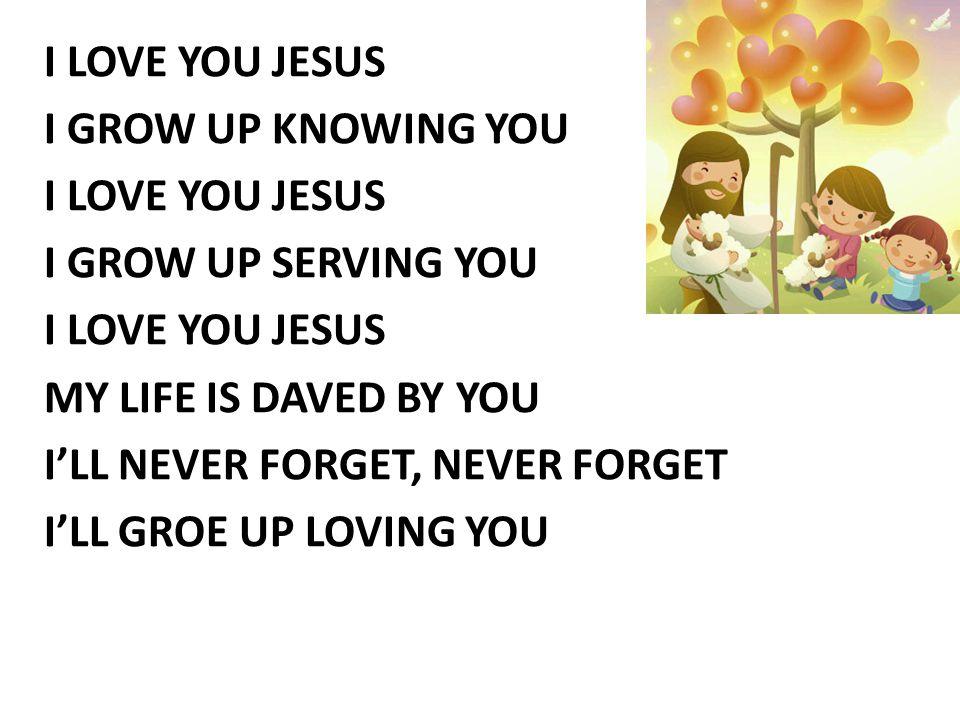 YESUS SAHABATKU Yesus Sahabatku, Dia mati bagiku Besarnya Kasih-MU Sahabat dan Tuhanku Sampai Kubesar nanti Sampai di surga nanti Kukan ingat selalu Yesus sahabatku dan Tuhanku