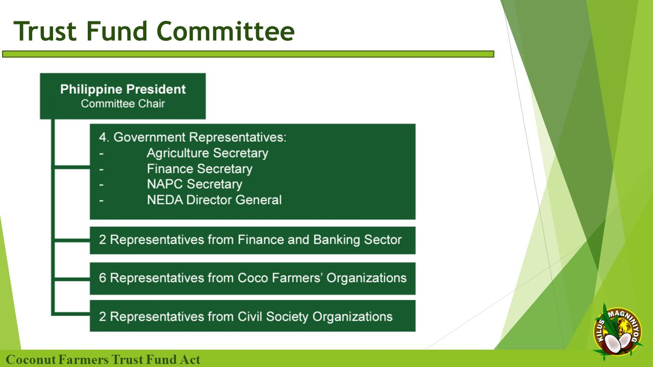 Trust Fund Committee Coconut Farmers Trust Fund Act