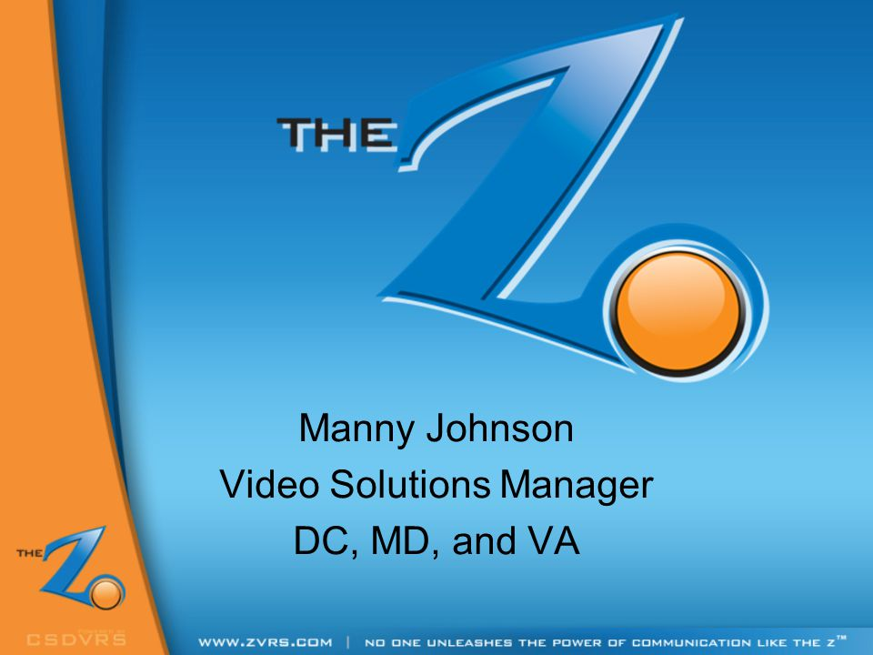 Manny Johnson Video Solutions Manager DC, MD, and VA