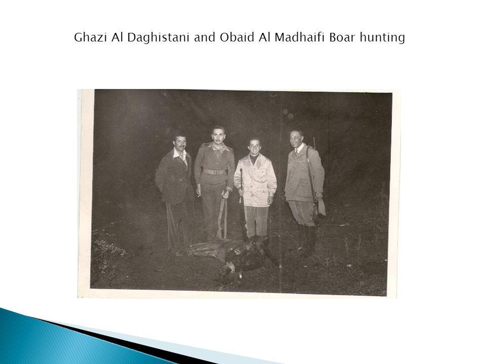 Ghazi Al Daghistani and Obaid Al Madhaifi Boar hunting