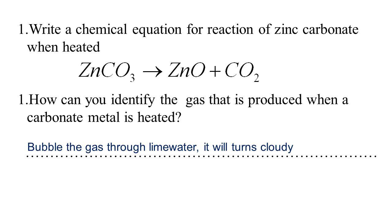 Colour of carbonate salt Colour of oxide formed A.