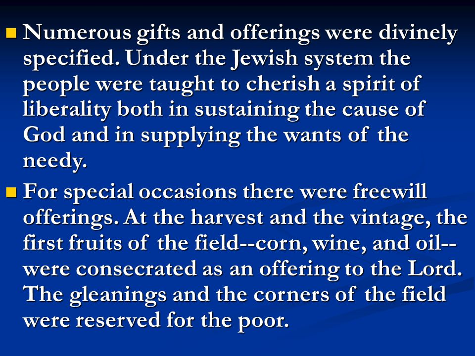 Every third year, however, this second tithe was to be used at home, in entertaining the Levite and the poor, as Moses said, That they may eat within thy gates, and be filled. This tithe would provide a fund for the uses of charity and hospitality.--Patriarchs and Prophets, p.