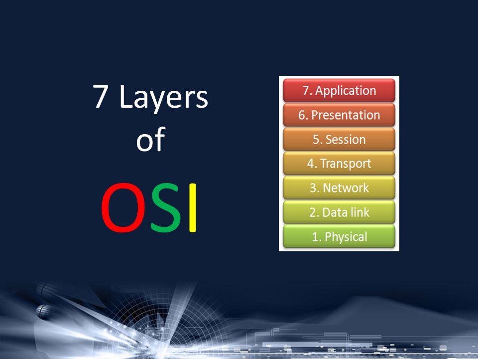 7 Layers of OSI